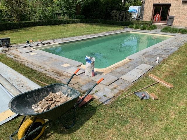Zwembadtegels renovatie